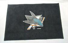 """NHL San Jose Sharks Sports Fan Towel Black 15"""" by 25"""" by WinCraft"""