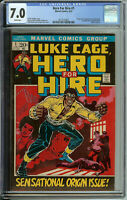 Hero for Hire #1 CGC 7.0 WP 1st App & Origin of Luke Cage