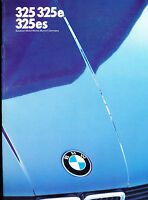 1986 BMW 3-Series 325 325e 325es 30-page Car Sales Brochure Catalog - 9-85
