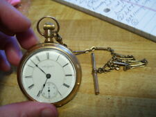 Lot #10 Antique Elgin J. Boss 14K Gold 17 Jewels Pocket Watch
