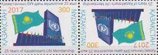 2017 Kazakhstan Flag of Kazakhstan and buiding of UN tet-besh MNH