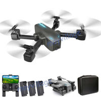 HD Dual Camera Drone Foldable Aircraft Quadcopter Selfie Wide Angel GPS 5G FPV