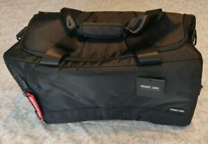 Genuine Private Label Bomber Red & Black Duffel & Travel Bag.