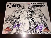 UNCANNY & EXTRAORDINARY X-MEN no. 001 Sketch Variant signed J Scott Campbell NM
