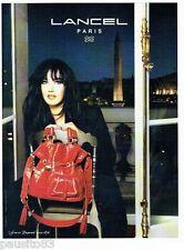 PUBLICITE ADVERTISING 116  2008  le sac Lancel avec Isabelle Adjani