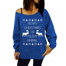 Feo Suéter de Navidad Mujer Sudadera Sudaderas Blusa Navidad Jersey Camiseta