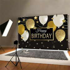 Birthday Gold Balloon Photography Backdrop Background Studio Prop Party Decor