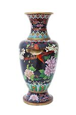 More details for antique large early-20th century oriental cloisonne vase