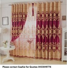 10 Colours-Custom Made Elegant Double-Layers Curtains BlockOut With Sheer