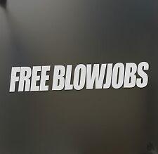 Free Blowjobs sticker 4X4 JDM Funny drift car window decal