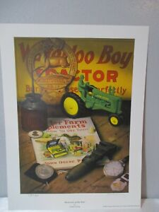"""2003 JOHN DEERE POSTER """"MEMORIES OF THE PAST"""" SIGNED BY CHARLES FREITAG #9 OF 85"""