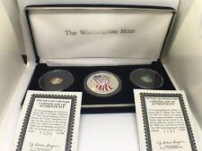 1999 Full Color US Eagle Set, 1oz Silver, 1/10oz Gold, & 1/10oz Platinum Eagles