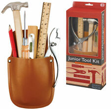 JUNIOR DIY TOOL KIT SET WITH BELT POUCH  - FULLY WORKING TOOLS 12887