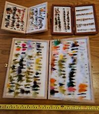 Hand Tied Trout Fly Fishing Flies 3 wood boxes Stuffed Nymphs Lures & More