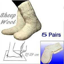 5 Pairs Wholesale Wool pale White Socks size 27-29 cm 100% Sheep Wool Handmade