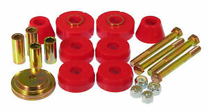 Prothane 7-118 Body & Cab Mount Bushing Kit 8pc 63-66 Chevy GMC C10 2wd Poly Red