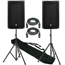 "Electro-Voice EV ZLX-15P 15"" DJ Active 2000W PA Club Stereo Speaker Stand Pack"