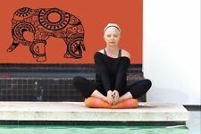 Wall Vinyl Sticker Room Decal Mural Design Yoga Elephant Animal Ganesha  bo2246