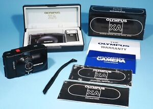 Olympus XA Point & Shoot 35mm Film Camera 35mm f/2.8 Lens * Working & Boxed