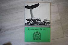 Birmingham  Airport  Booklet circa 1970.