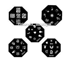5pcs Nail Art Metal Stamp Image Template Plate (QA 21-25)