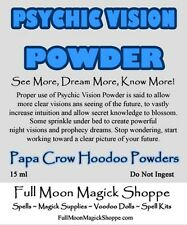 Psychic Vision Hoodoo Powder Used To Enhance Ability, Dreams, ESP, Witch Powers