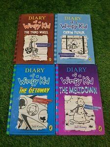 Diary Of A Wimpy Kid Book Bundle X4 Hardbacks Books Jeff Kinney