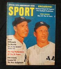 Sport Magazine September 1961 Mickey Mantle Joe DiMaggio Cover No Label Rare