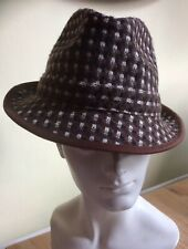Designer Gwyther Snoxell Ladies Stylish Brown Trilby Style Hat - Nr