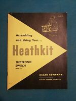 Original Vintage Heathkit Model S-3 Electronic Switch Assembly Manual Ham Radio