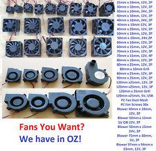 5V 12V 24V 2 3 Pin 40mm 50mm 60mm 90mm 10mm PC CPU 3D Printer Cooling Blower Fan