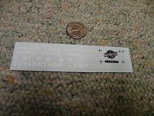 Herald King decals O Chicago Minneapolis St Paul 34' gondola  white XX228