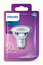 Philips LED Glass 4.6w GU10 50w A+ Spot Light Bulb Lamp 355lm - Warm White