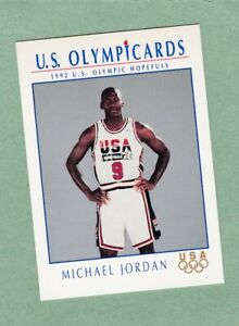 MICHAEL JORDAN CHICAGO BULLS 1992 US OLYMPIC HOPEFULS IMPEL CARD #12