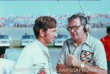 1975 DAYTONA 400 8x10 PHOTO NASCAR #88 DONNIE ALLISON POLE WIN CHRIS ECONOMAKI