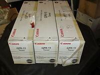 QTY 3 Genuine New Canon GPR-11 Toner Cyan Magenta Yellow C3200 C3220 iR Printer