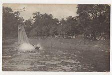 Shooting the Chutes at ROCK POINT PARK PA Vintage 1911 Ellwood City Postcard