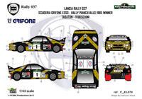 [FFSMC Productions] Decals 1/43 Lancia Rally 037 Grifone Piancavallo '85 winner