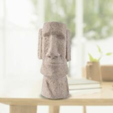 Head Statue Easter Island Stone Imitation Ornament Pukao Moai Figurine Sculpture