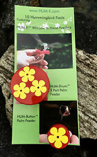 Dynamic Duo Gift Set,HUM-Button™ & HUM-Drum™ Hand Held Hummingbird Feeders,NEW