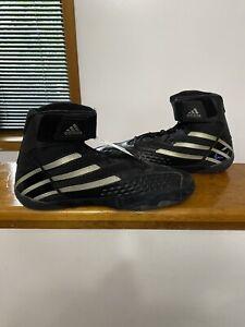 NWT Men's Adidas Attaak II Size 9 Black Wrestling Shoes !!