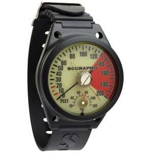 ScubaPro Analog Depth Gauge Wrist, with Armstrap, Imperial