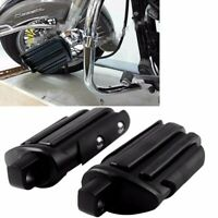 Black Rear Passenger Foot Pegs Rest Pedal Footpeg For Harley Davidson Motorcycle