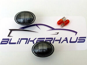 FIAT 500 ABARTH 500C CABRIO L LANCIA YPSILON FORD KA SMOKED SIDE MARKERS LIGHTS