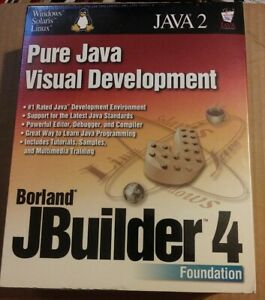 Borland JBuilder 4 Foundation Pure Java 2 Visual Development - BRAND NEW SEALED