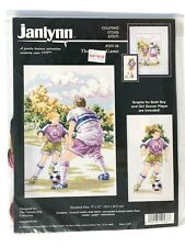 NEW Janlynn Counted Cross Stitch Kit #105-38 The Soccer Game Vintage1998