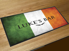 Personalised Irish Flag with your name Beer bar runner Pubs & Cocktail Bars
