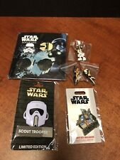 Disney Star Wars Pin Lot Scout Mickey Boba Rogue One Hong Kong EM3542