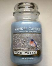 Yankee Candle WINTER WOODS 22 oz. JAR HTF RETIRED HOLIDAY FAVORITE