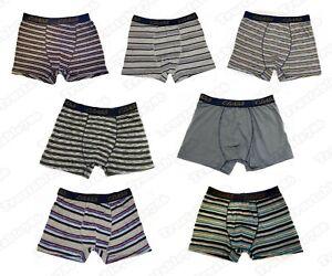 3X Pack Men's Gents Class Assorted Striped & Plain Jersey Boxer Shorts S-2XL